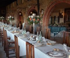 New Antica Rocca Donwivar - L'allestimento del ricevimento di nozze