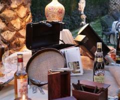 L'angolo dei sigari per la festa di matrimonio