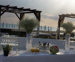 Castello Miramare - Preparazione del tavolo del brindisi