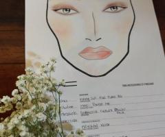 Tatiana Make up Artist - Face chart del trucco della sposa
