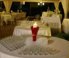 Villa Posillipo - Mise en place per il cocktail di nozze