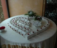 Tavolo per le bomboniere
