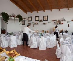 Borgo La Fratta - La preparazione dei tavoli