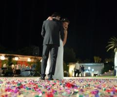 Foto suggestiva del ballo degli sposi