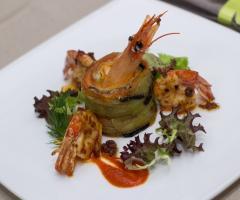 La cucina: un antipasto  Al Chiar di Luna