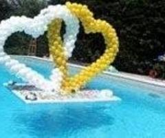 La Pirotecnica Pugliese - Coreografia di palloncini per le nozze - Doppio cuore