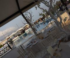 Castello Miramare - Allestimento del ricevimento di nozze a Maccarese