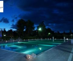 Murgia Garden Ricevimenti - La piscina al tramonto