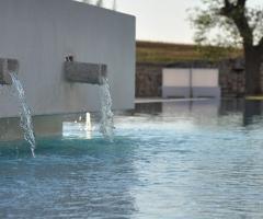 Scorcio della piscina della location