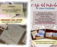 Partecipazioni e Coordinati di Tonia D'Adderio - L'Arte del Particolare