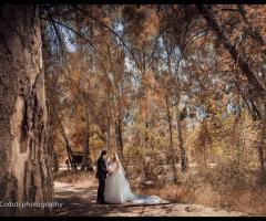 Feudo della Selva - Gli sposi nel parco della location