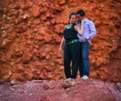 Scatto fotografico degli sposi
