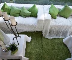Allestimento in verde per il matrimonio