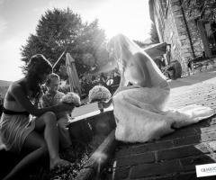 Foto sposa in bianco e nero Qualcosa di Blu