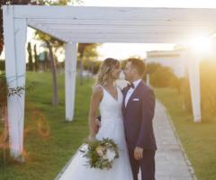 Manfredi Ricevimenti - Gli sposi sotto il gazebo