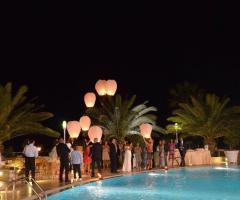 Il lancio delle lanterne durante il ricevimento