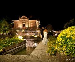 Villa Vergine - Gli sposi al cospetto della villa