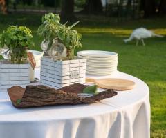 Allestimento per le nozze a Parco Gambrinus