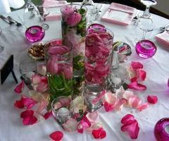 Addobbo floreale per il ricevimento di matrimonio