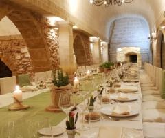 Antica Masseria Martuccio - La tavola per il ricevimento di nozze