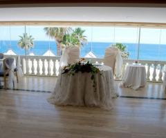 Grotta del Conte - Il tavolo degli sposi vista mare