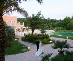 Villa San Martino - Gli sposi in giardino