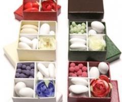 Conti Confetteria Torino - Scatole per confetti 4 scomparti componibili a scelta