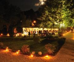 Abbazia Sant'Andrea in Flumine di sera