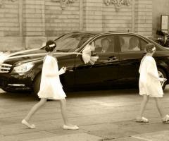 Arrivo della sposa stile reportage