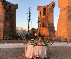 Oasi  Quattro Colonne - La coreografia del tavolo degli sposi