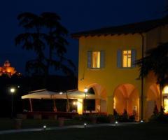 Villa Aretusi - Vista della location di matrimonio di notte