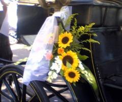 Addobbo floreale per la cazzozza per il matrimonio