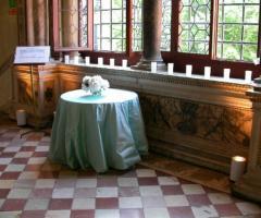 Dettaglio della location per il matrimonio