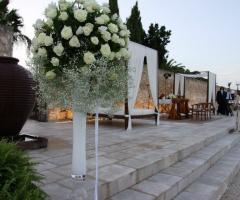 Allestimento del matrimonio con gazebo