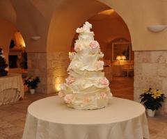 Un'originale wedding cake