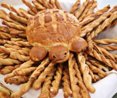 Pane fatto in casa per il buffet di nozze