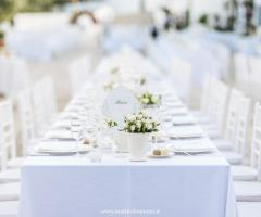 F&B Luxury Events - Mise en place white per le nozze