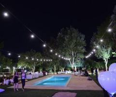 Masseria San Michele - Allestimento per le nozze di sera all'aperto