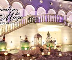 Buffet di nozze all'aperto