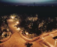 Masseria Cariello Nuovo - Il giardino di sera dall'alto