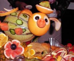 Kora Pool and Beach Events - Frutta scolpita per il buffet di matrimonio