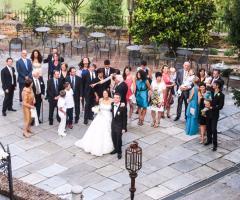 Castello di Cortanze - Foto di gruppo con gli sposi