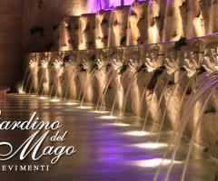Giochi d'acqua presso la location di nozze