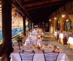 New Antica Rocca Donwivar - I tavoli sulla terrazza