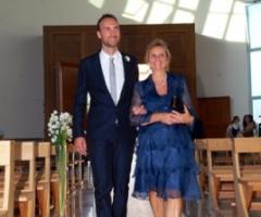 Scatto fotografico dell'ingresso dello sposo in chiesa