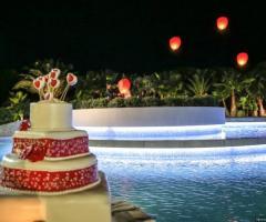 Borgo Ducale Brindisi - Torta nuziale a bordo piscina