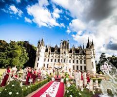 Foto della cerimonia di matrimonio in giardino