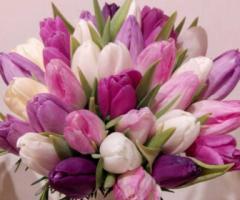 Fiori foglie e follie - Bouquet da sposa con tulipani