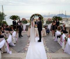 Cerimonia di matrimonio sul mare