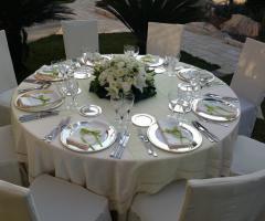 Villa Royal - Le Cascate - Mise en place bianca per il matrimonio